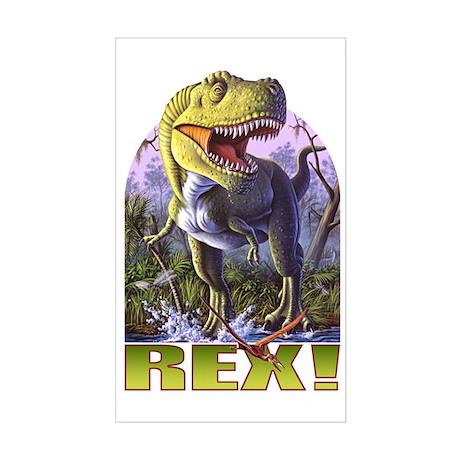 Green Rex 1 Rectangle Sticker