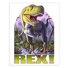 Green Rex 1 Posters