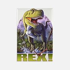 Green Rex 1 Rectangle Magnet