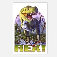 Green Rex 1 Postcards (Package of 8)