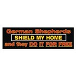 Shield For Free Bumper Sticker