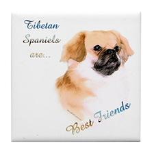 Tibbie Best Friend 1 Tile Coaster