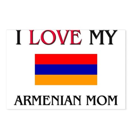 I Love My Armenian Mom Postcards (Package of 8)