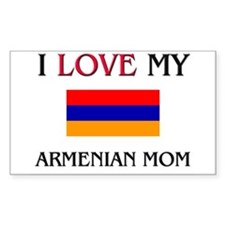 I Love My Armenian Mom Rectangle Decal