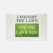 I FOUGHT THE LAWN Rectangle Magnet