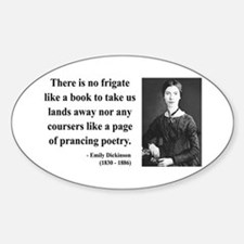Emily Dickinson 10 Oval Decal