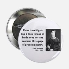 """Emily Dickinson 10 2.25"""" Button"""