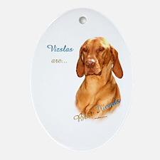 Vizsla Best Friend 1 Oval Ornament