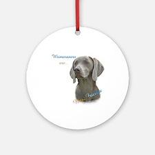 Weimaraner Best Friend 1 Ornament (Round)