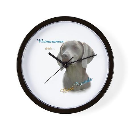 Weimaraner Best Friend 1 Wall Clock