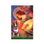 Mandolin Angel / Bull Terrier Sticker (Rectangle)