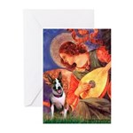 Mandolin Angel / Bull Terrier Greeting Cards (Pk o