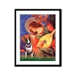 Mandolin Angel / Bull Terrier Framed Panel Print