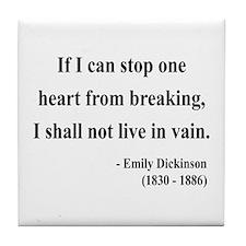 Emily Dickinson 9 Tile Coaster