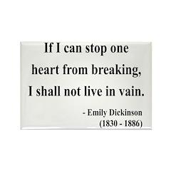 Emily Dickinson 9 Rectangle Magnet