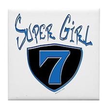 Super Girl #7 Tile Coaster