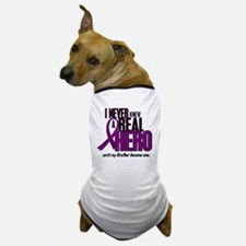 Never Knew A Hero 2 Purple (Brother) Dog T-Shirt