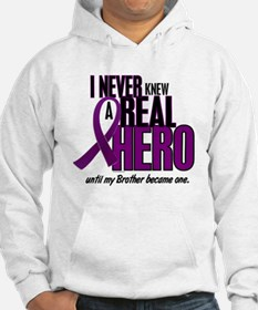 Never Knew A Hero 2 Purple (Brother) Hoodie