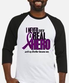 Never Knew A Hero 2 Purple (Brother) Baseball Jers