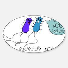 Poo Bacteria Rectangle Decal