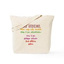 Msg to Grandma Tote Bag
