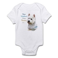Westie Best Friend 1 Infant Bodysuit