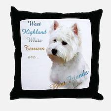 Westie Best Friend 1 Throw Pillow