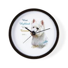 Westie Best Friend 1 Wall Clock