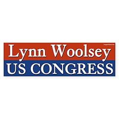 Lynn Woolsey for Congres bumper sticker