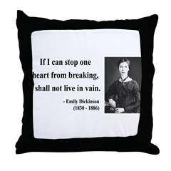 Emily Dickinson 9 Throw Pillow