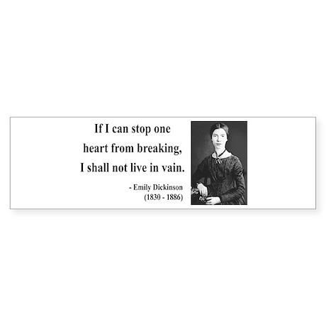 Emily Dickinson 9 Bumper Sticker