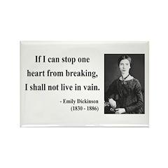 Emily Dickinson 9 Rectangle Magnet (100 pack)