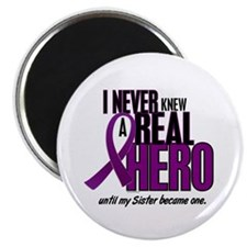 "Never Knew A Hero 2 Purple (Sister) 2.25"" Magnet ("