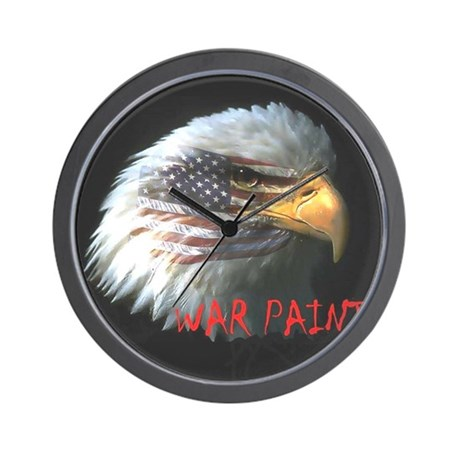 War Paint Wall Clock