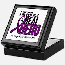 Never Knew A Hero 2 Purple (Sister) Keepsake Box