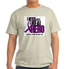 Never Knew A Hero 2 Purple (Sister) T-Shirt
