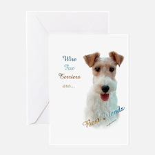 Wire Fox Best Friend 1 Greeting Card