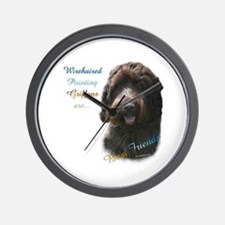 Wirehaired Best Friend 1 Wall Clock