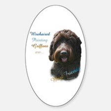 Wirehaired Best Friend 1 Oval Decal