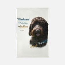 Wirehaired Best Friend 1 Rectangle Magnet (10 pack