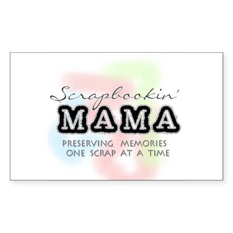 Scrapbookin' Mama Rectangle Sticker