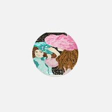Cute Monet waterlillies Mini Button