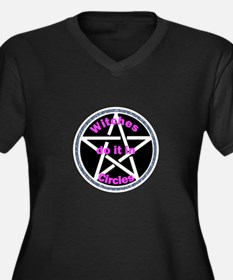Witches do it in circles Women's Plus Size V-Neck