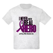 Never Knew A Hero 2 Purple (Mom) T-Shirt
