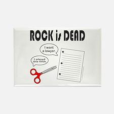 ROCK IS DEAD/PAPER SCISSOR ROCK Rectangle Magnet