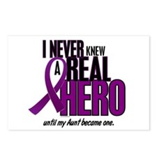 Never Knew A Hero 2 Purple (Aunt) Postcards (Packa