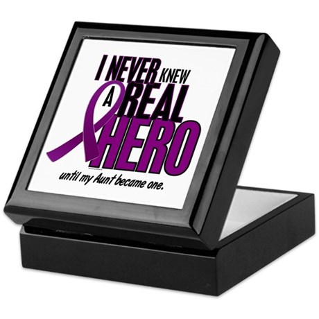 Never Knew A Hero 2 Purple (Aunt) Keepsake Box
