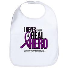 Never Knew A Hero 2 Purple (Aunt) Bib