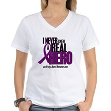 Never Knew A Hero 2 Purple (Aunt) Shirt