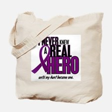 Never Knew A Hero 2 Purple (Aunt) Tote Bag